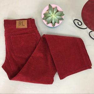 Ralph Lauren NEW Mid Rise Bootcut Corduroy Pants